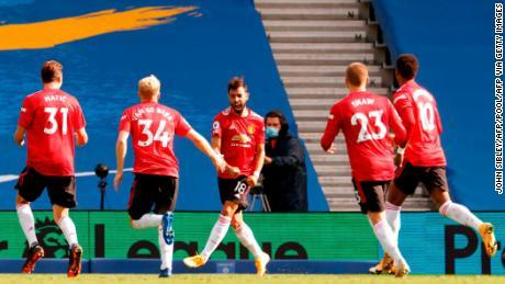 Manchester United scores 100th-minute penalty to secure dramatic win over Brighton
